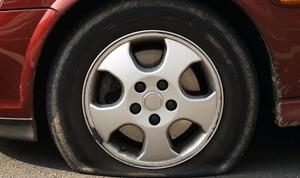 pneu crevé